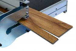 Simple cutting of skirting board strips
